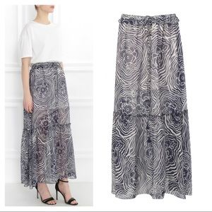 See by Chloe tiered floral maxi skirt